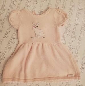 Sweater Dress with Embroidered Bunny